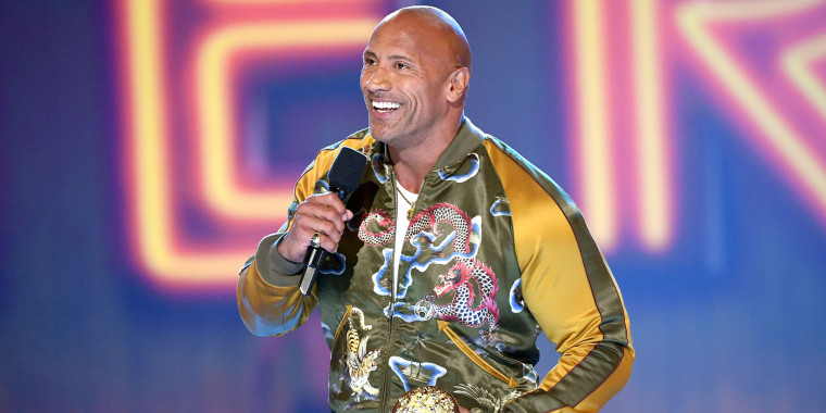 The Rock gives moving speech at MTV awards