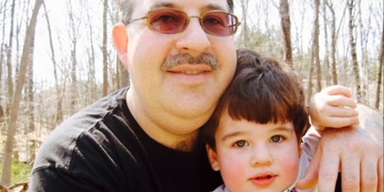 Lenny Pozner with his son Noah, who was killed in the 2012 Sandy Hook Elementary School shooting at age 6.