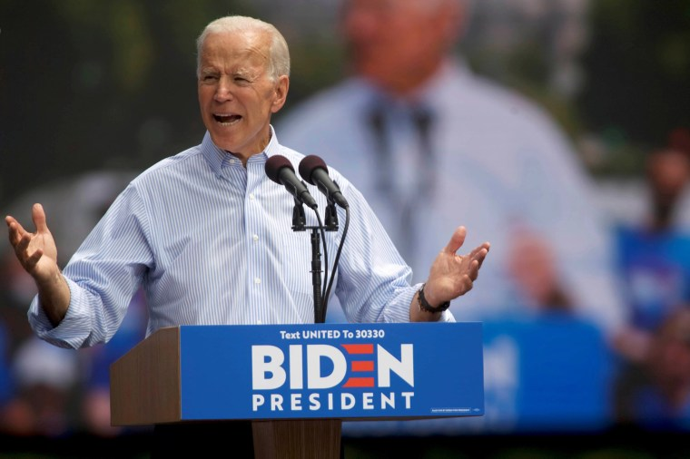 Image: Democratic 2020 U.S. presidential candidate and former Vice President Joe Biden speaks during a campaign stop in Philadelphia