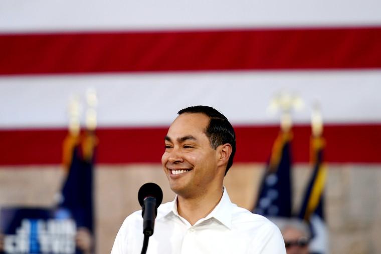 U.S. 2020 Democratic presidential candidate Julian Castro speaks during a rally in San Antonio
