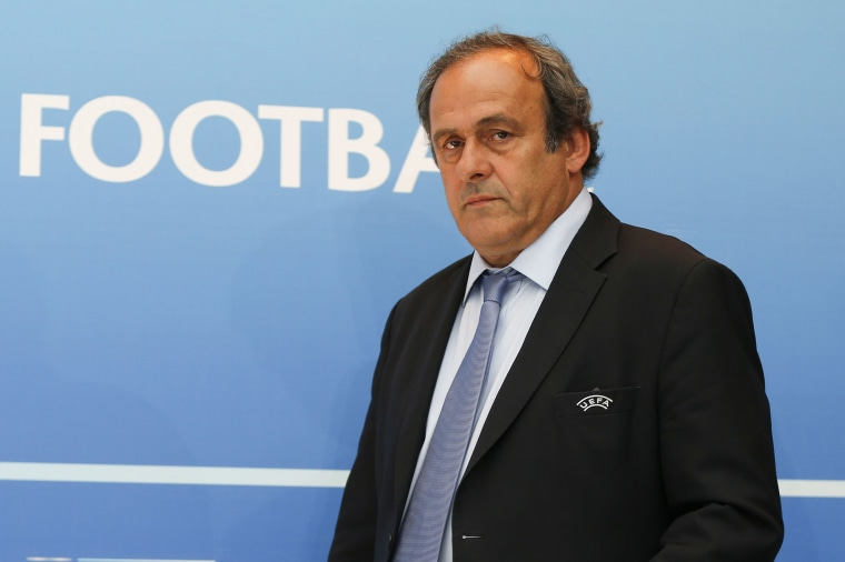 Image: UEFA chief Michel Platini in Monaco