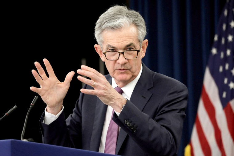 Image: FILE PHOTO: Federal Reserve Board Chairman Jerome Powell holds a news conference in Washington