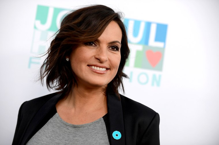 Image: Mariska Hargitay arrives for a JoyROCKS launch in Los Angeles on Sept. 26, 2013.