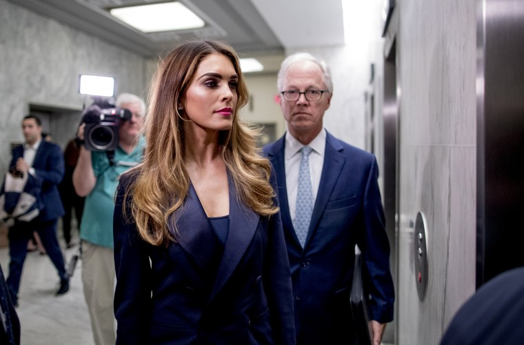 Hope Hicks refuses to answer questions about Trump White House, lawmakers say