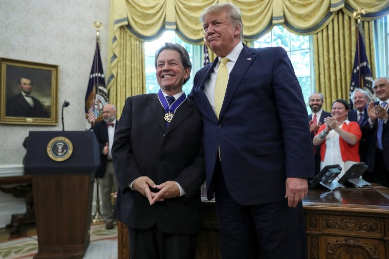 Trump awards Medal of Freedom to economist who advised him on lowering taxes