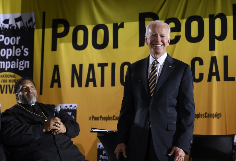 Image: Democratic presidential candidate former Vice President Joe Biden speaks at the Poor People's Moral Action Congress presidential forum in Washington,