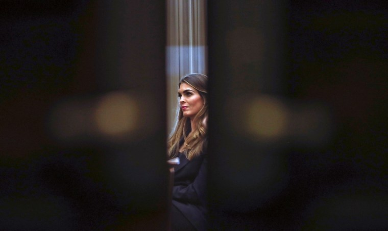Image: Former White House communications director Hope Hicks attends a closed-door interview with the House Judiciary Committee on June 19, 2019.