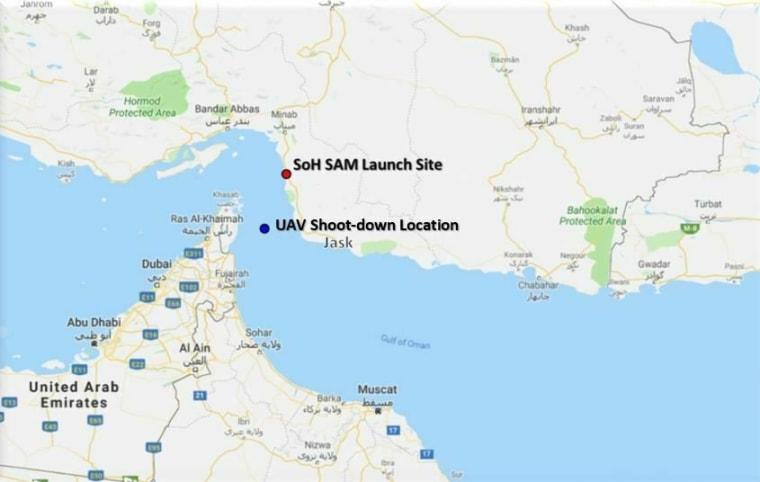 Image: Iran drone strike map