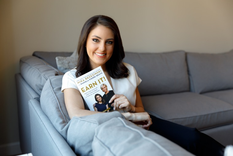 "Know Your Value millennial contributor Daniela Pierre-Bravo, who recently co-wrote ""Earn It!: Know Your Value and Grow Your Career, in Your 20s and Beyond"" with Mika Brzezinski."