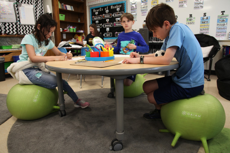 Wobbly chairs and rolling desks: Schools are rethinking ...