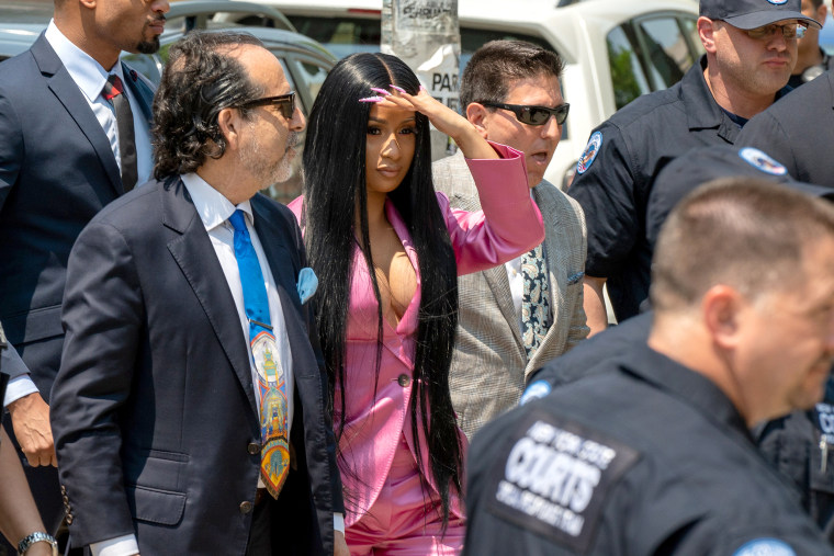 Image: Cardi B Arrives At Court For First Day Of Trial Addressing Misdemeanor Assault Charge