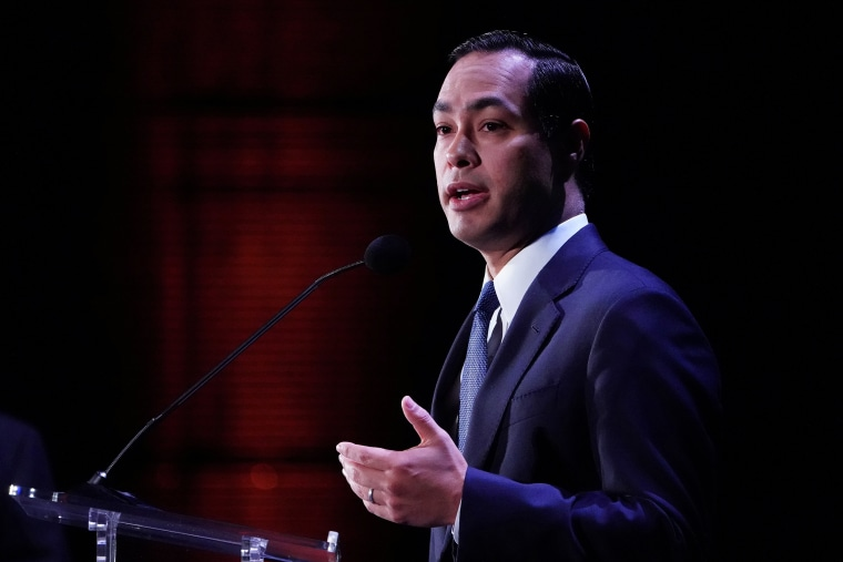 Image: Julian Castro speaks on stage at the Presidential Candidate Forum hosted by NALEO