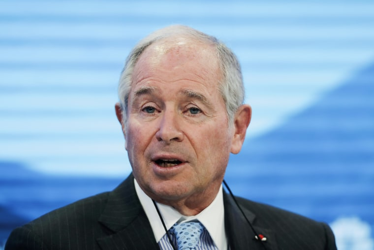 Stephen Schwarzman CEO of Blackstone, at the annual meeting of the World Economic Forum in Davos, Switzerland, on Jan. 22, 2019.