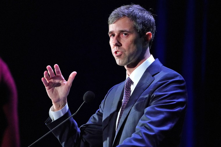 Image: Democratic 2020 U.S. presidential candidate Beto O'Rourke speaks on stage at the Presidential Candidate Forum hosted by NALEO at Telemundo Center in Miami
