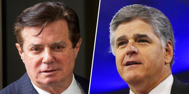Paul Manafort and Sean Hannity