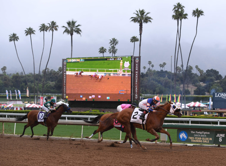 Image: FILES-US-ANIMAL-RACING-SANTAANITA-HORSE-DEATH