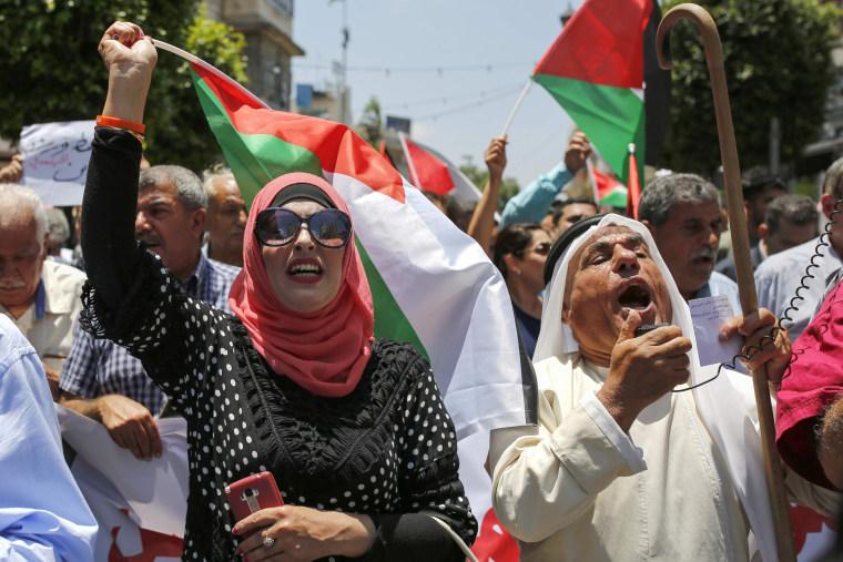 Image: PALESTINIAN-ISRAEL-US-DEMO