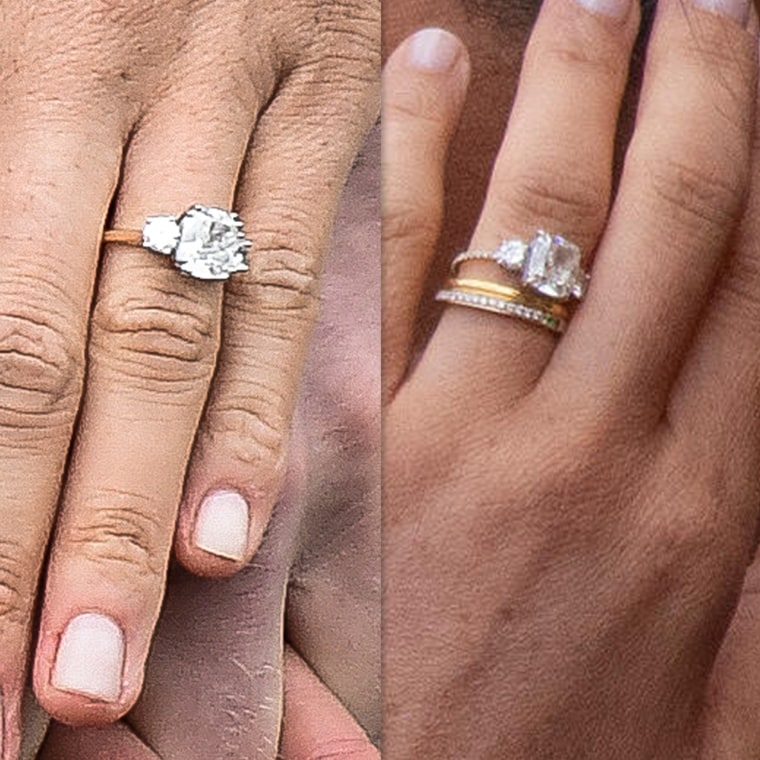 Meghan Markle Wedding Ring.Is Meghan Markle Wearing A Redesigned Engagement Ring