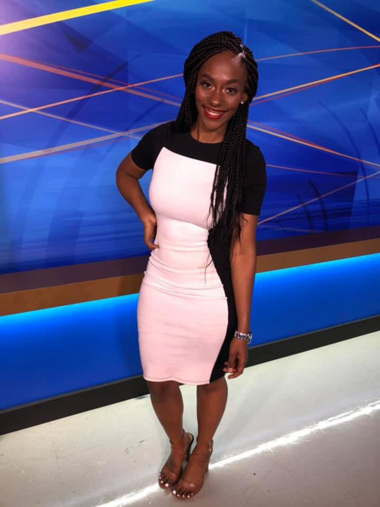 Collins recently celebrated wearing her braids on air for the first time.