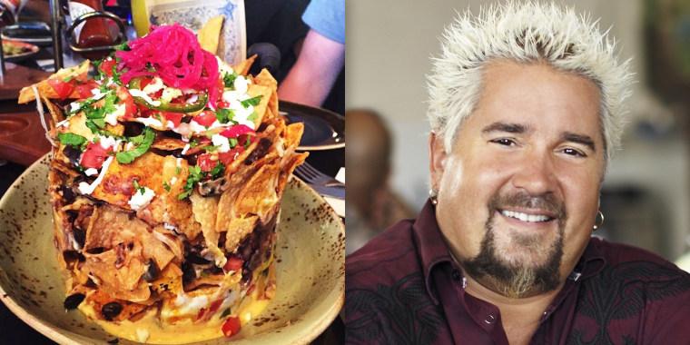 Guy Fieri's trashcan nachos