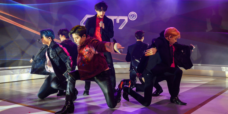 K-pop boy band GOT7 took the stage for their American television debut on the fourth hour of TODAY.