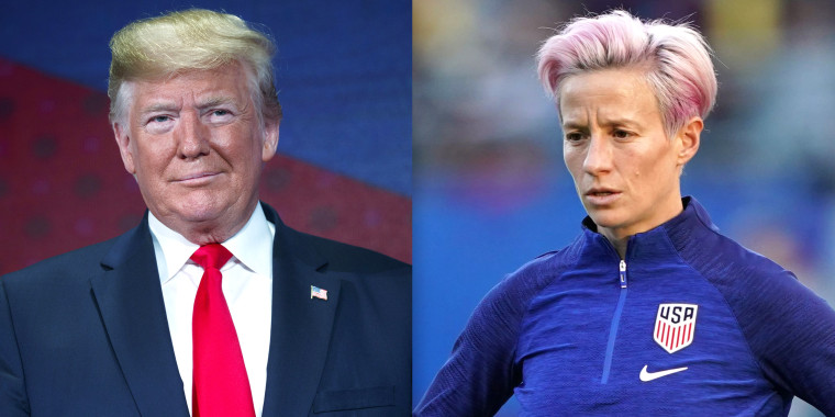 Trump responds to Megan Rapinoe's comment