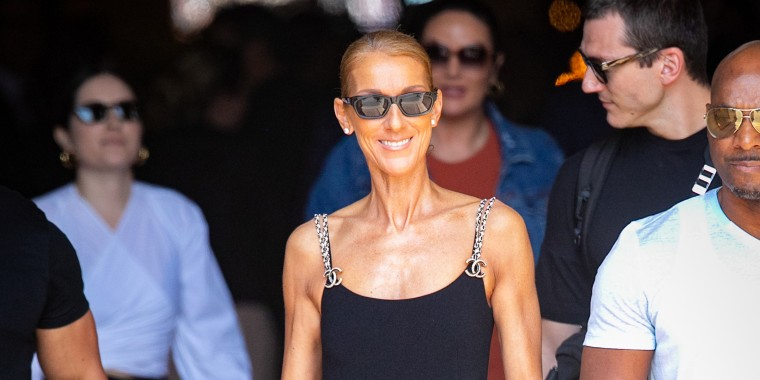 Celine Dion sighting In Paris