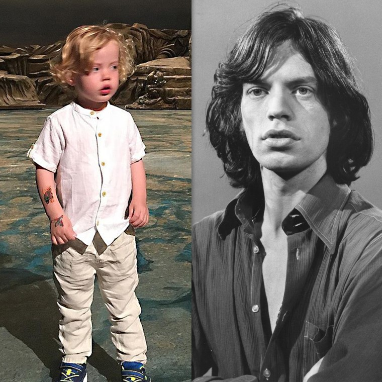 Lips like Jagger? Mick Jagger's 2-year-old son looks a lot