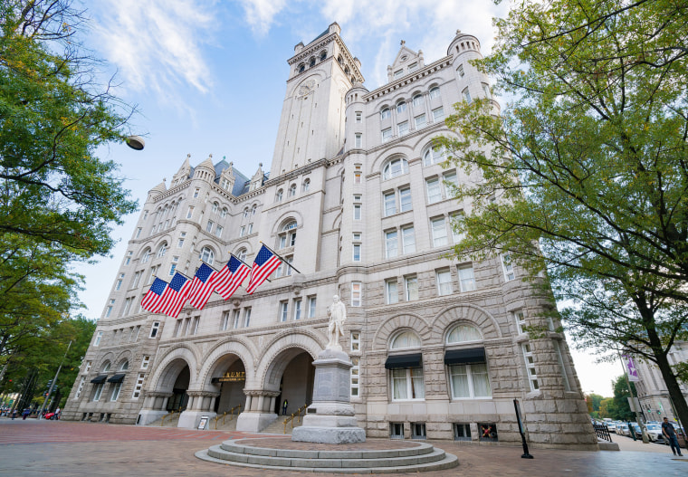 Image: General view of the Trump International Hotel Washington, D.C. at the Old Post Office