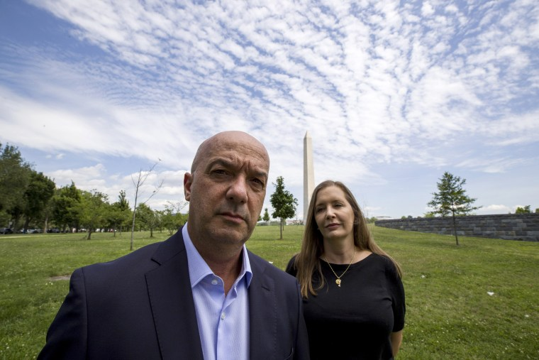 Image: Ivan Simonovis and his wife, Bony Pertnez, in Washington on June 24, 2019.