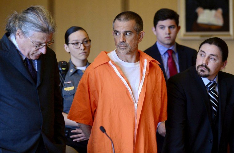 Image: Fotis Dulos and his legal team at a hearing in Stamford Superior Court in Connecticut on June 11, 2019.