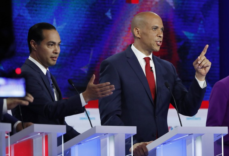 Image: Candidates participate in the first U.S. 2020 presidential election Democratic candidates debate in Miami, Florida, U.S.