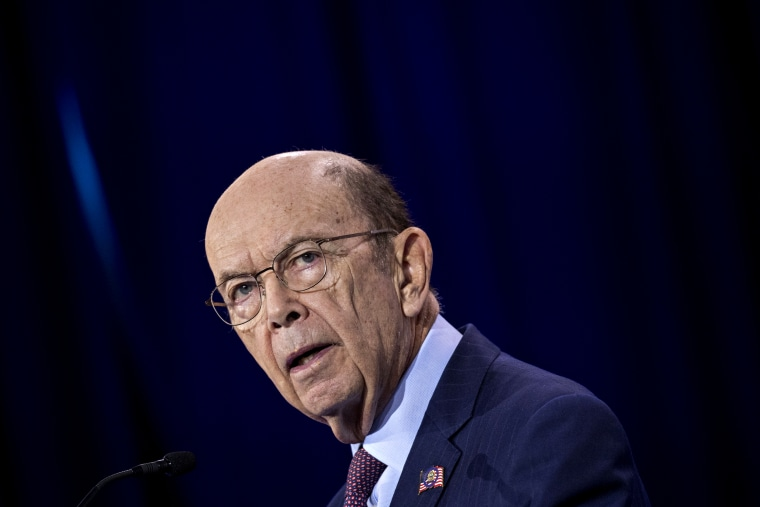 Image: Commerce Secretary Wilbur Ross speaks at a summit in Washington on June 11, 2019.