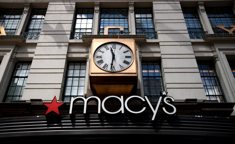 Image: The Macy's flagship store in New York on May 12, 2017.
