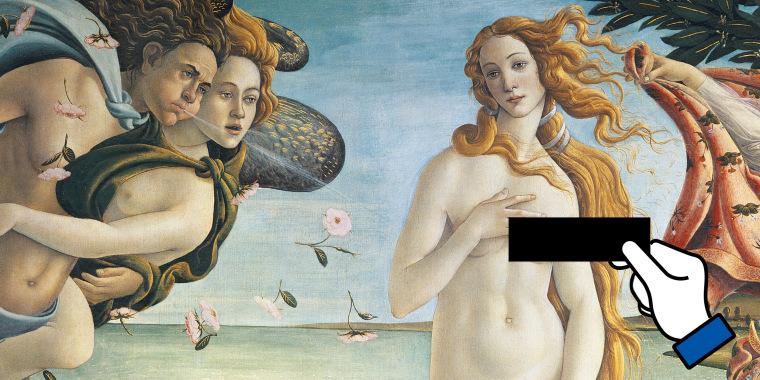 Image: Facebook nude art censorship