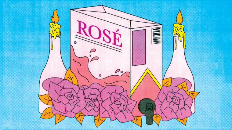 Illustration of a box of rose.