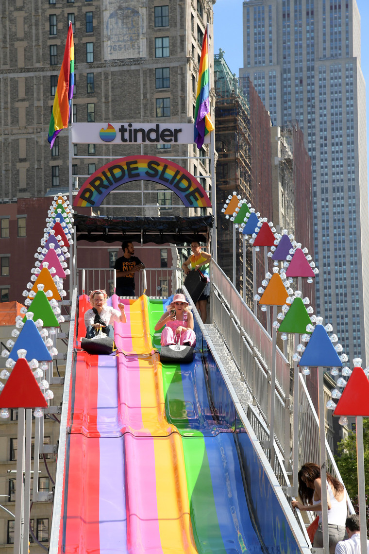 Image: Tinder Kicks Off WorldPride With Pride Slide In Support Of Equality Act