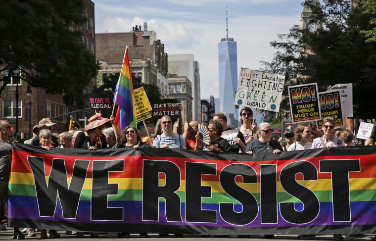 Image: The Queer Liberation March in Greenwich Village on June 30.