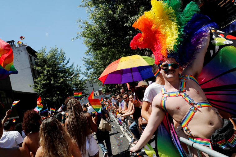 Image: Participants in the New York Pride March on June 30, 2019.