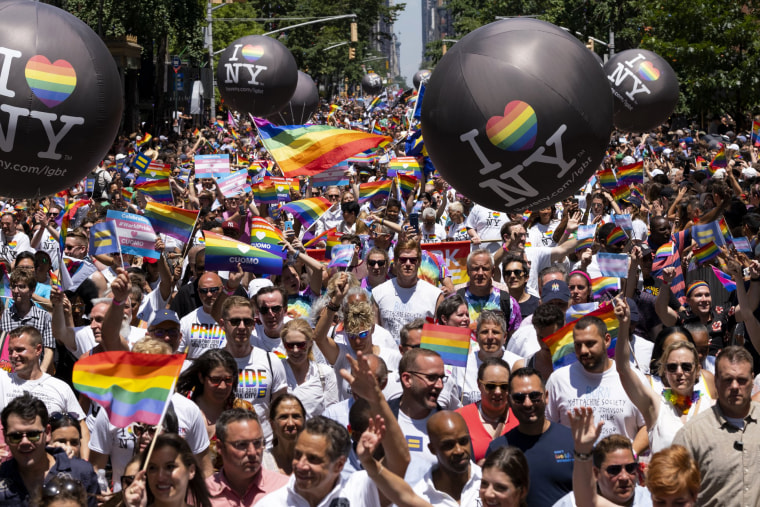 Image: Thousands took to the streets of New York City during the Pride March on June 30.