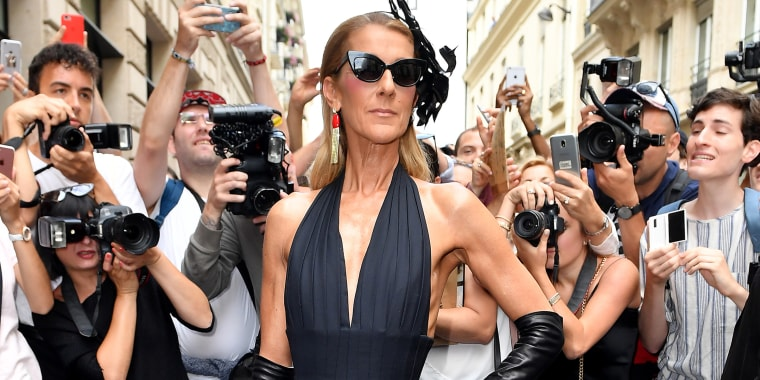 Celine Dion outfit roundup in Paris