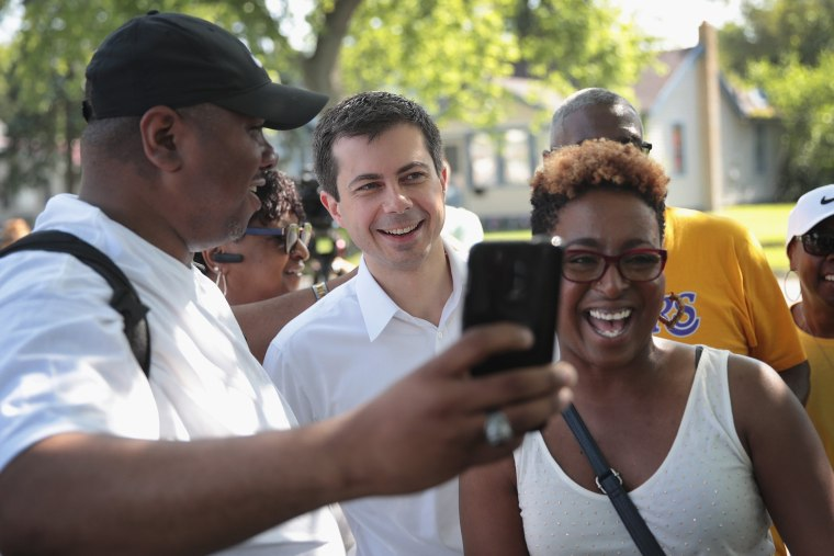 Image: Buttigieg Attends a Community Peace Event as Funeral for Eric Logan is Being Held