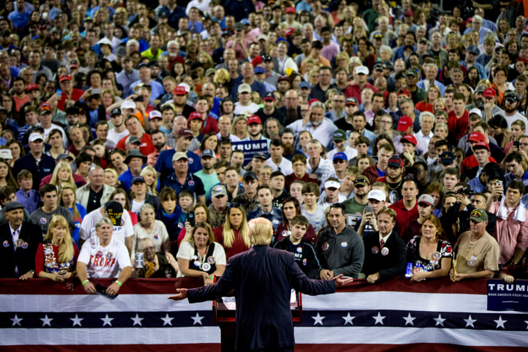 Image: Donald Trump speaks at a campaign rally at Valdosta State University in Georgia on Feb. 29, 2016.