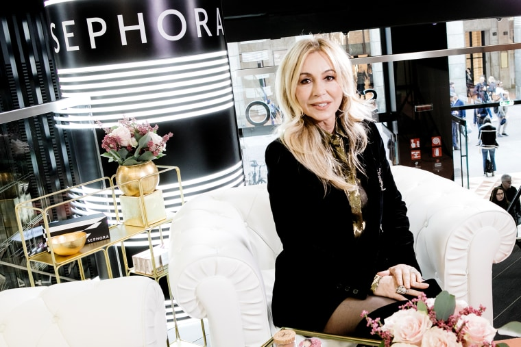 Image: Anastasia Soare in Sephora in Milan on March 8, 2019.
