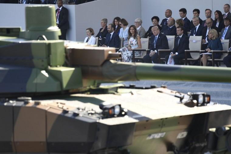Image: Donald Trump Emmanuel Macron Bastille Day parade