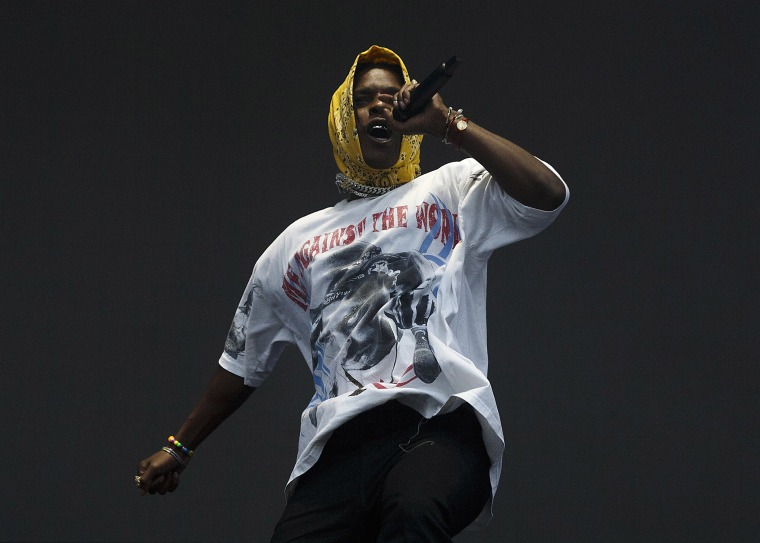 Image: Rapper A$AP Rocky performs onstage during Breakout Festival 2019 at PNE Amphitheatre