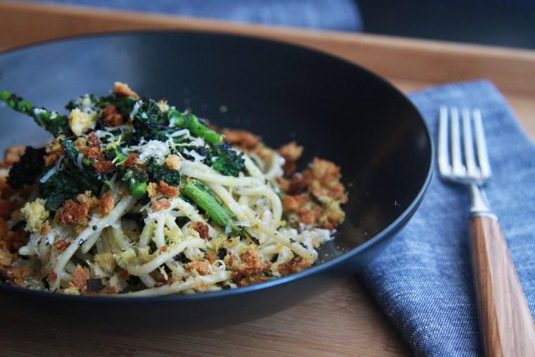 Broccoli Rabe Pasta With Lemony Breadcrumbs