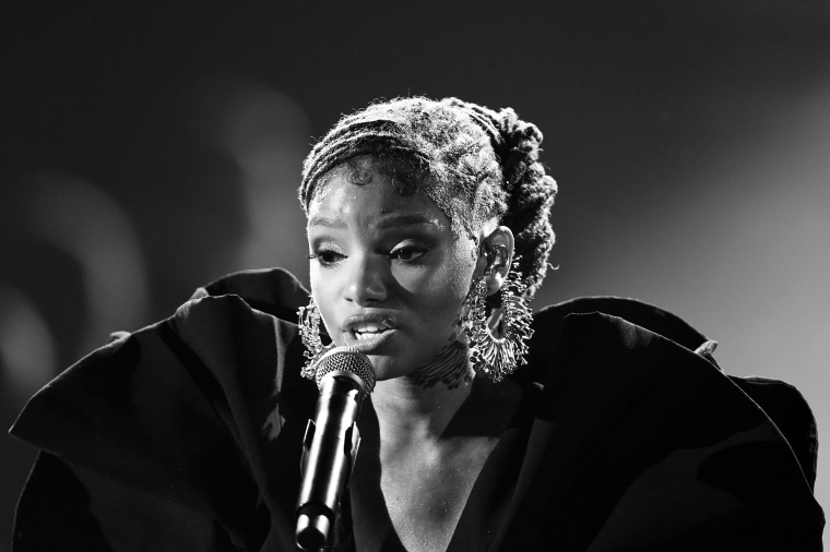 Halle Bailey performs during the 61st Annual GRAMMY Awards in Los Angeles