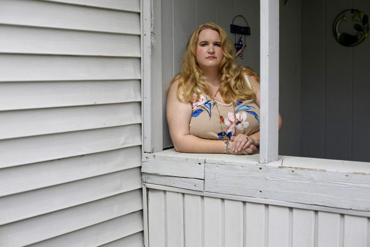 Image: Genevieve Meyer, here at her home in Hoagland, Indiana, was married at age 15 to a 43-year-old man.