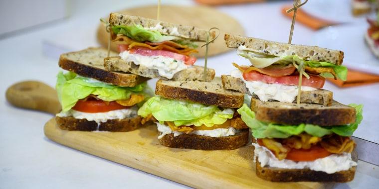 Michael Gulotta's Blue Crab, Bacon and Tomato Sandwich + Redfish and Creole Tomato Courtbouillon